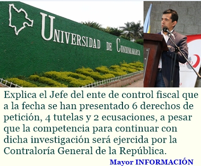 A pesar de recusaciones, el Contralor de Cundinamarca continúa controlando los recursos del departa