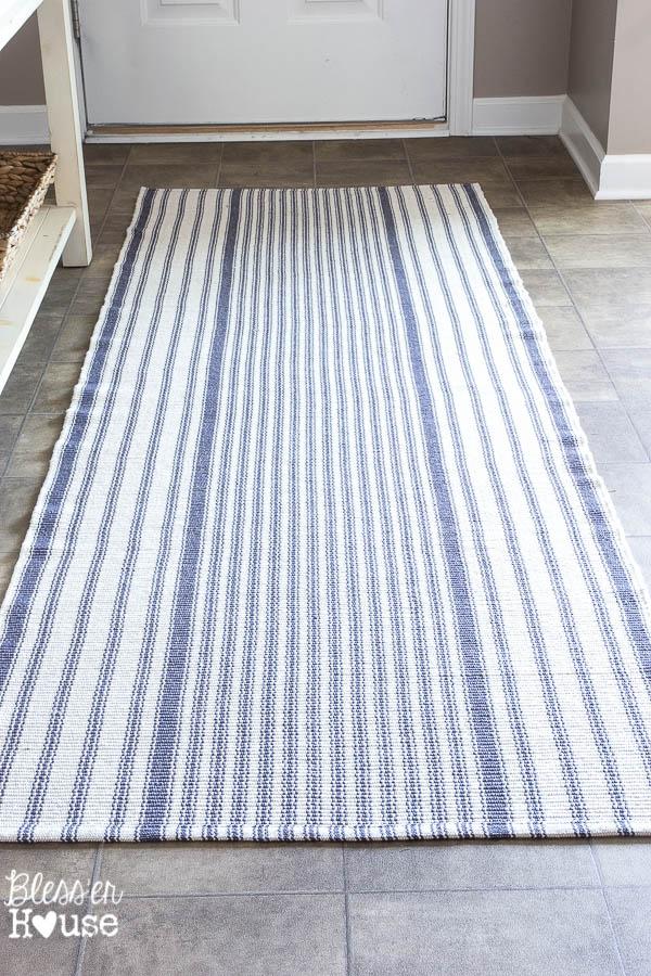 Ticking Stripe Foyer Runner Rug Blessu0027er House