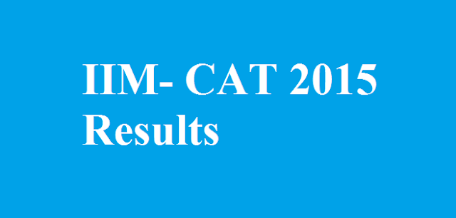CAT 2015 Result Declared