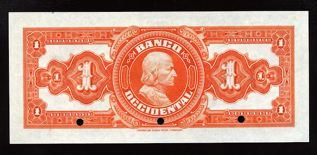 Currency Salvador Colon banknote