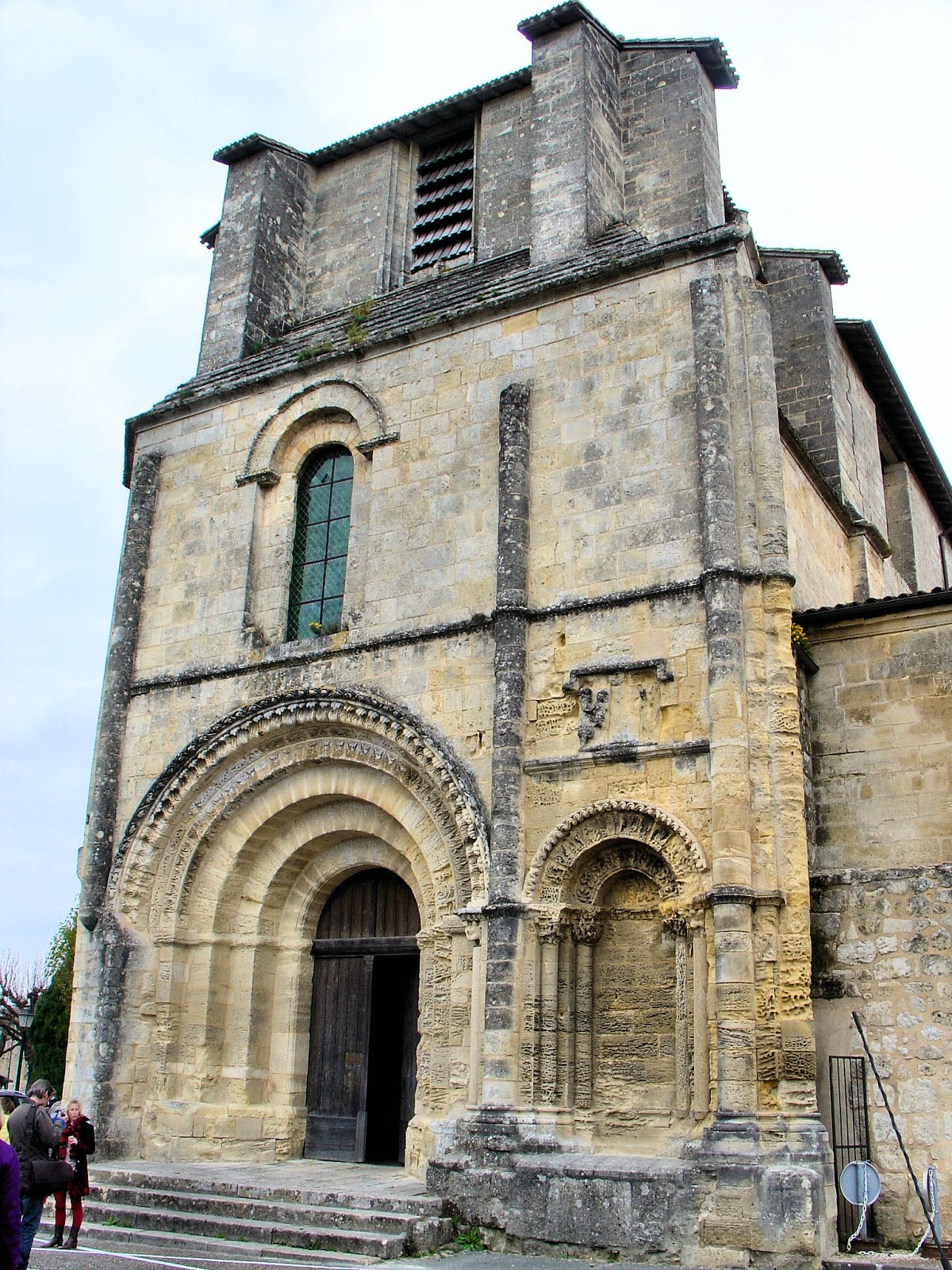 Western portal of the 14th-century Collegiate Church in Saint-Emilion.