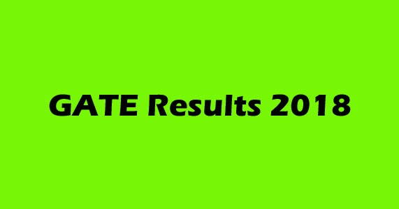 Gate Results: GATE Exam Results 2018