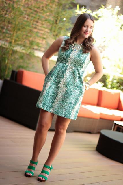 zara dress, zara green dress, zara green printed dress, zara a line dress