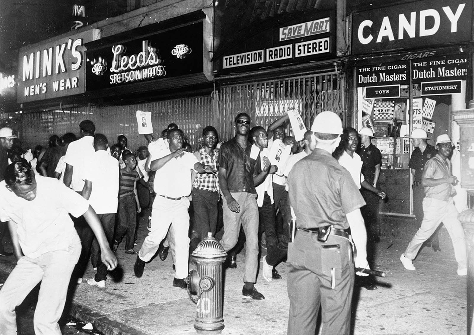 On July 15, 1964, a 15-year-old African American named James Powell was shot and killed by New York Police Lieutenant Thomas Gilligan. The fatal shooting stirred rioters to race through Harlem streets carrying pictures of Gilligan, starting what would turn into six days of chaos, leaving one dead, 118 injured, and more than 450 arrested.