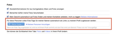 Foto-Tags in Google+