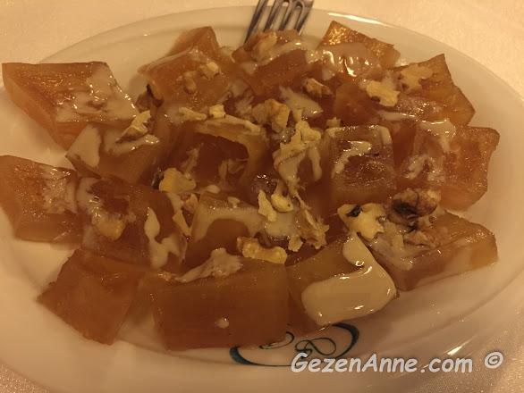 tahinli kıtır kabak tatlısı, Sveyka restoran