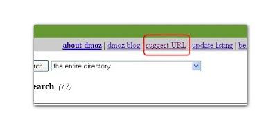 dmoz.org submit url