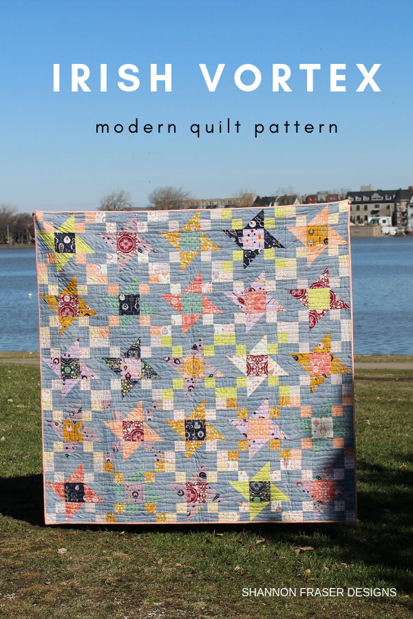 Quilts in the wild | Fall Irish Vortex Quilt | Shannon Fraser Designs