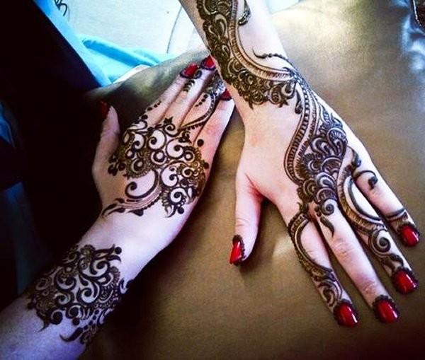 Pakistani Eid Mehndi Designs for Girls Hands 2016