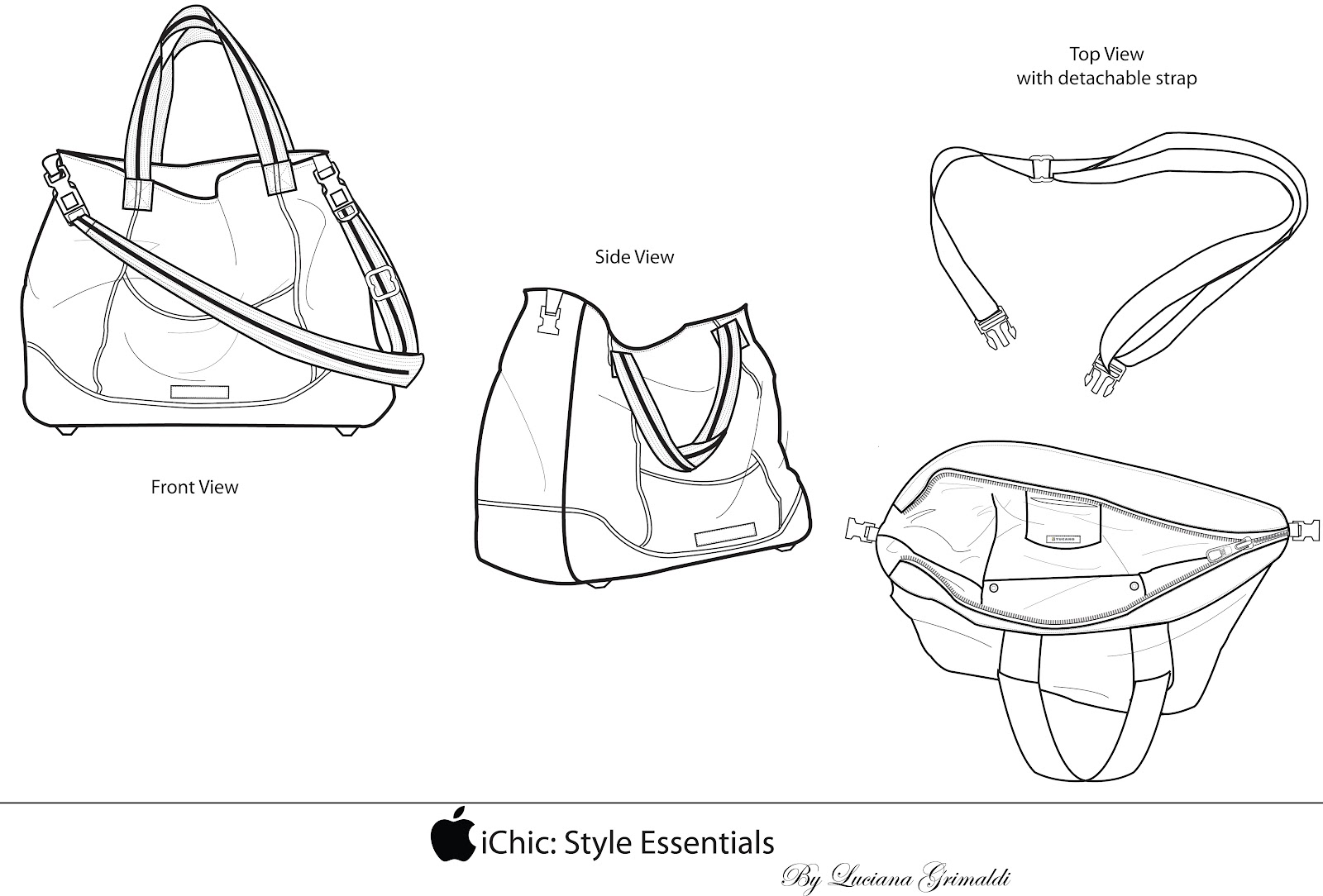 Ichic Style Essentials A Computer Bag For The Stylish