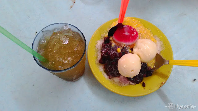 durian ice kacang kek seng cafe