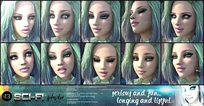 i13 Sci-Fi Splendor Expressions for the Genesis 3 Female