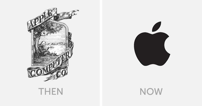 logo apple dulu dan sekarang