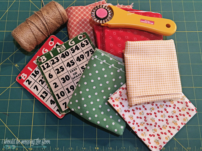 This Vintage BINGO Card Banner is a fun way to add a touch of retro to any space. See how easy it was to put together.