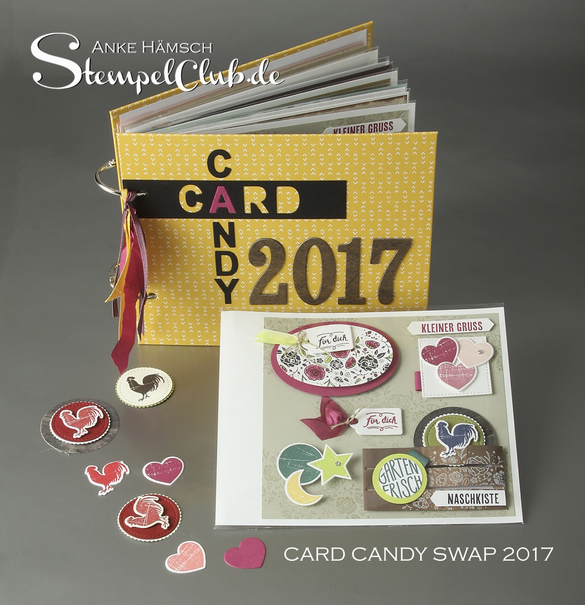 Card Candy Swap mit dem Produktpaket Kreativkiste, Wood Words von Stampin Up- Minialbum