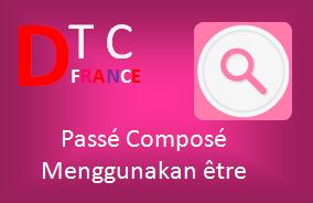 Bentuk Passé Composé  menggunakan être dalam Bahasa Perancis