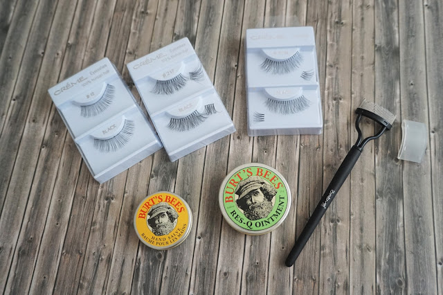 the Crème Shop - Lashes     the Crème Shop - Wimpernkamm      Burt's Bees - Hand Salve      Burt's Bees - Res-Q Ointment