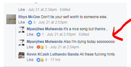 Young Zambian Man Commits Suicide After Hinting About His Death On Facebook
