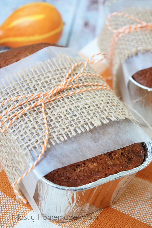 Mini Cranberry Easy Pumpkin Bread Recipe