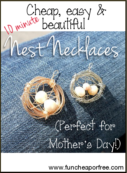 DIY nest necklace tutorial - easy to make!