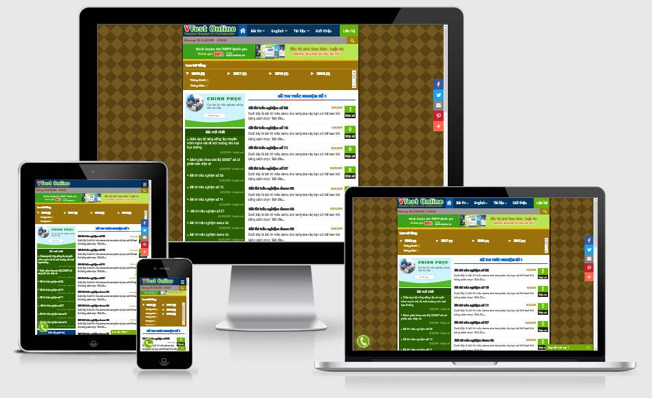 VTest Online - Template Blogspot làm bài thi trắc nghiệm Online