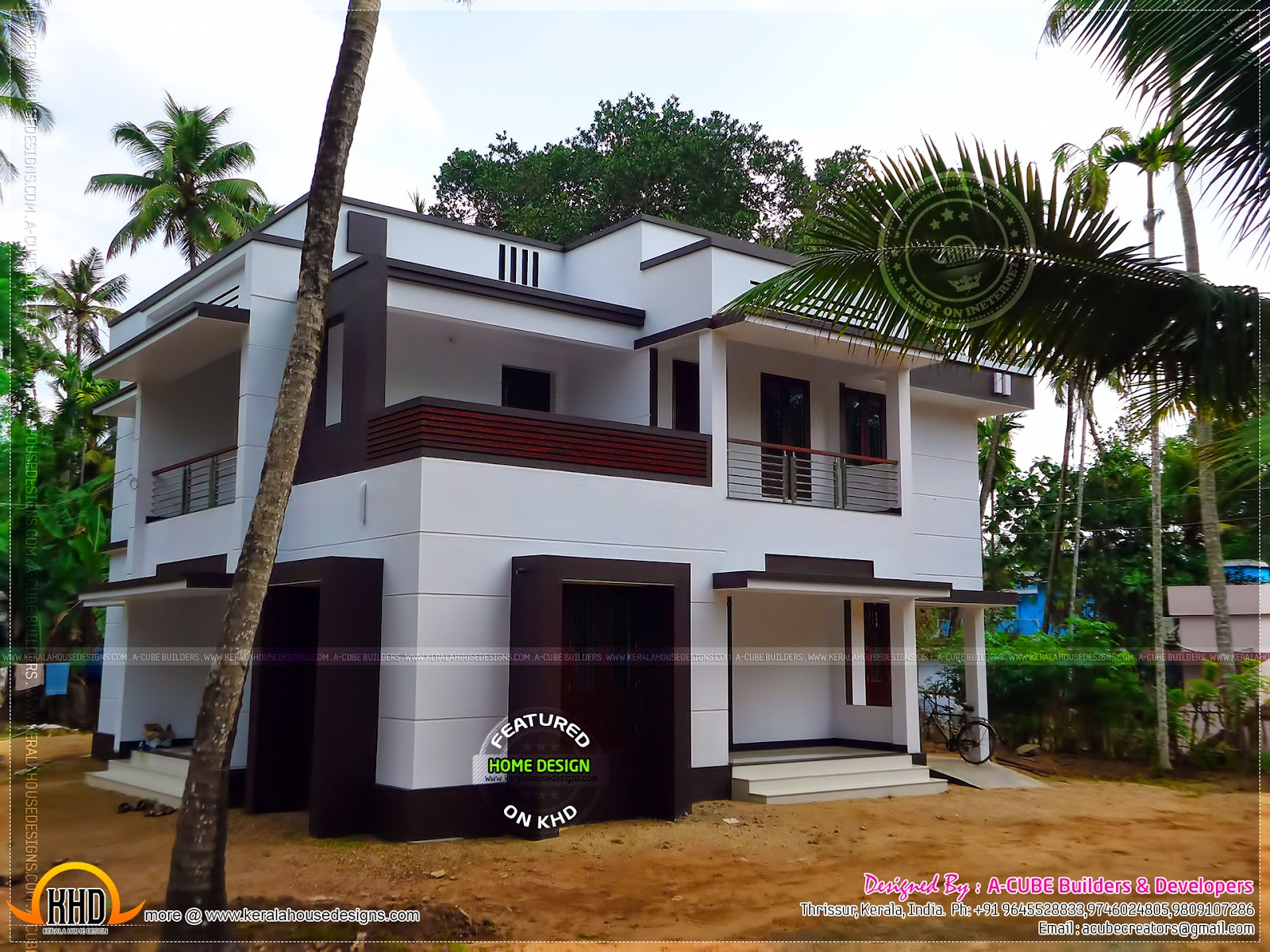 News And Article Online Modern Finished House In Kerala