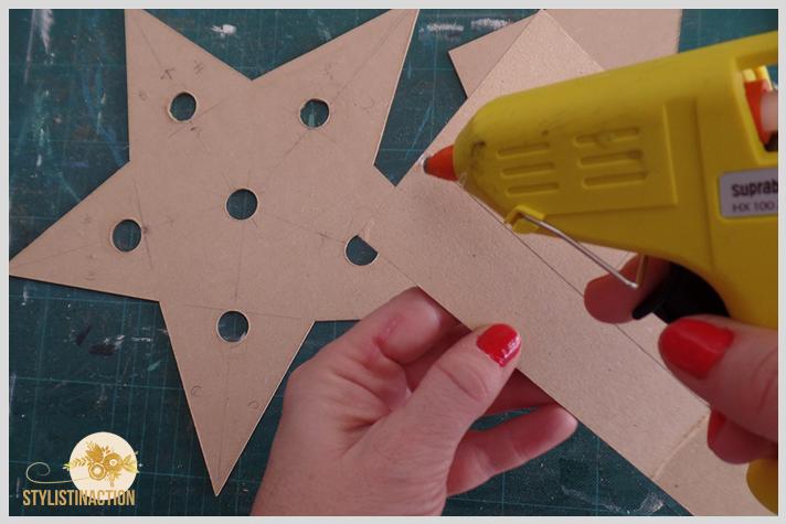 DIY para hacer una estrella de marquesina o marquee light. Es muy facil