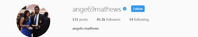 Angelo Mathews Instagram