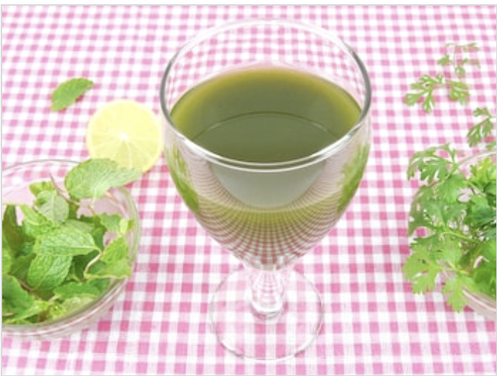 Coriander Greens-Mint Juice