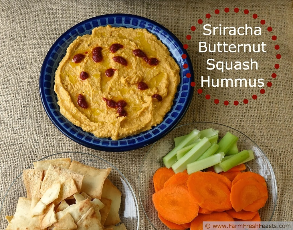 Sriracha Butternut Squash Hummus #Appetizerweek | Farm Fresh Feasts