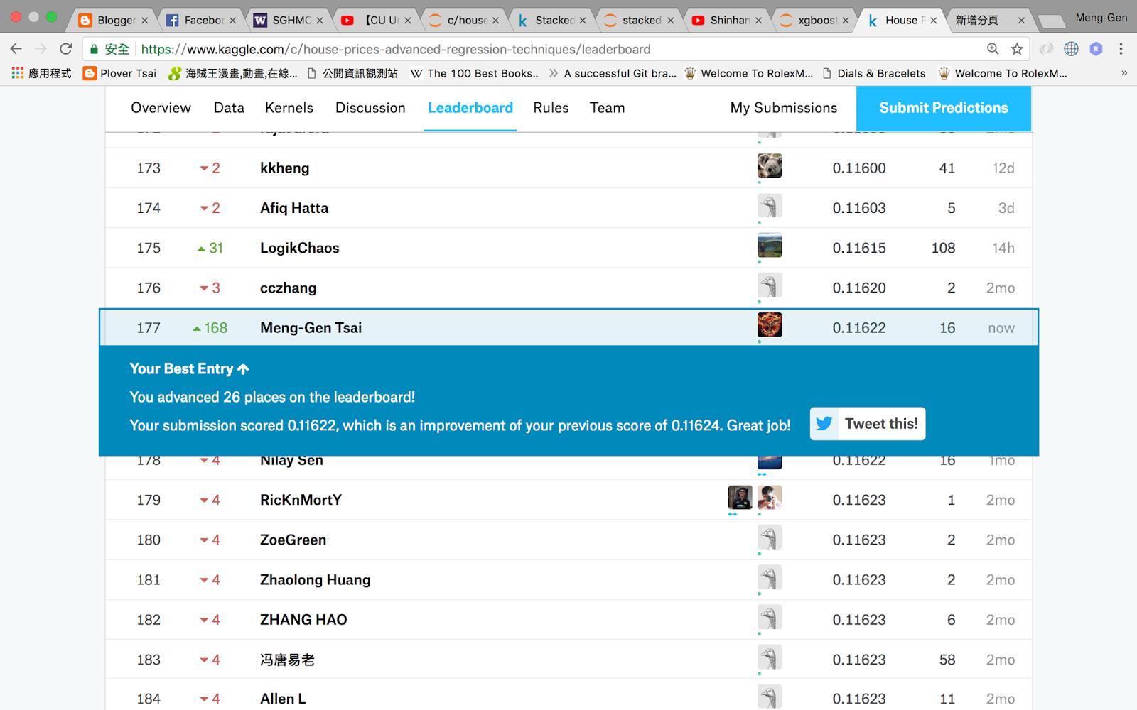 Plover Tsai: [Kaggle] House Prices: Advanced Regression