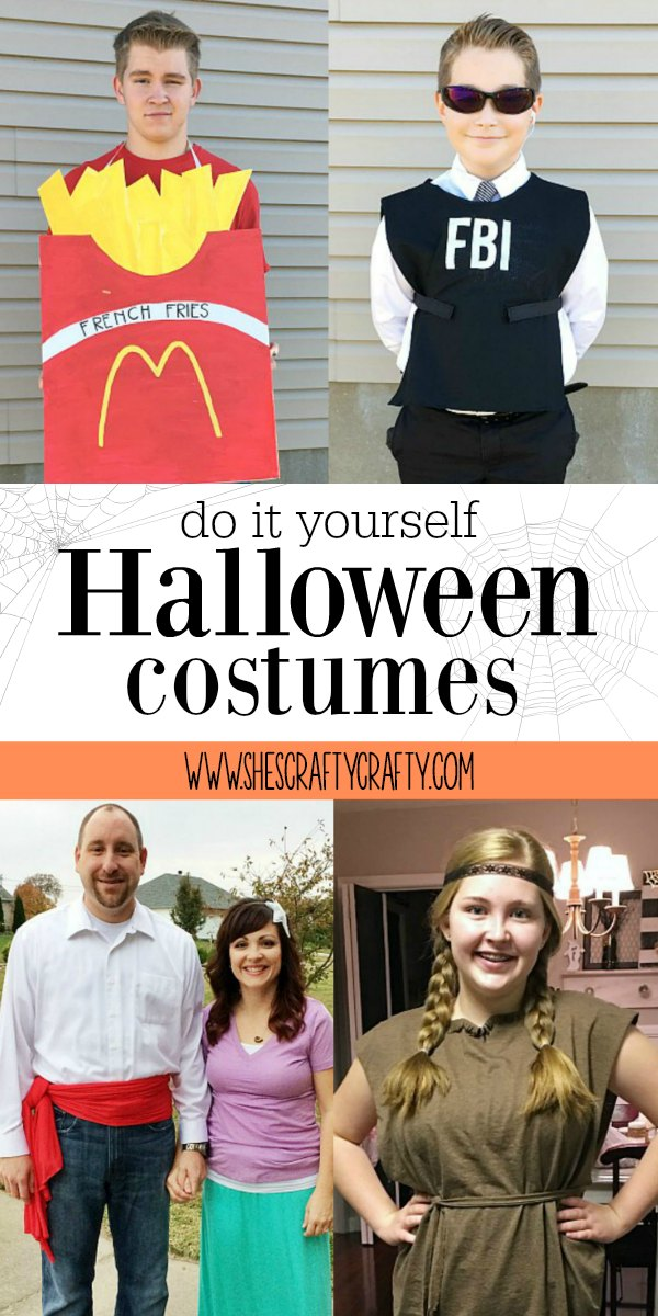 fry costume, FBI agent costume, pocahontas costume, little mermaid costume