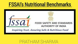 FSSAI NUTRITIONAL BENCHMARK