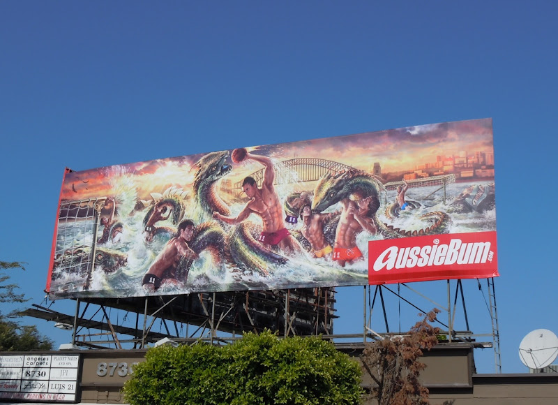 AussieBum Hydra swimsuit billboard