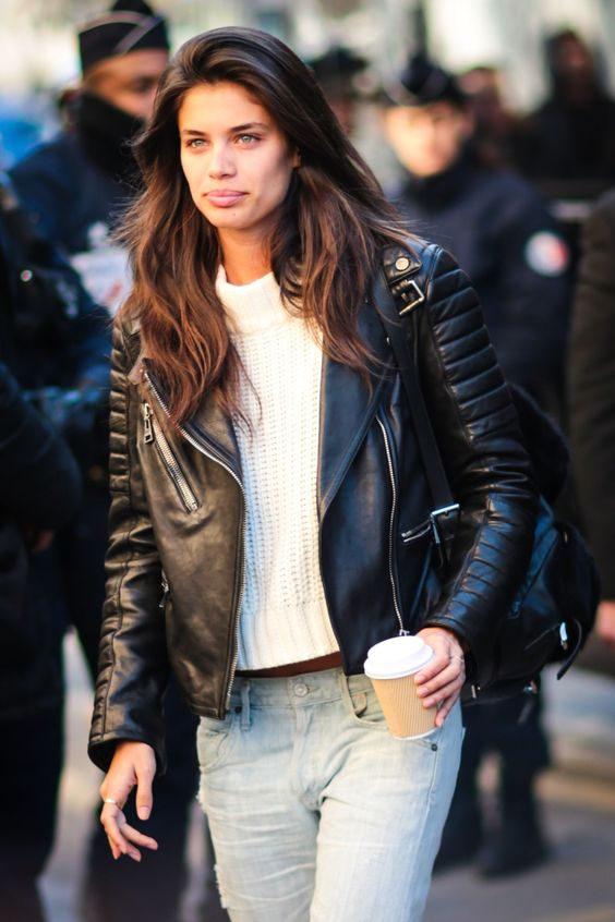 Leather Jacket, Sara sampaio