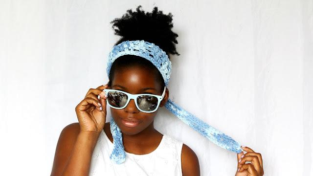 DIY // Summer 70's Crochet Headband. Free Crochet Pattern!