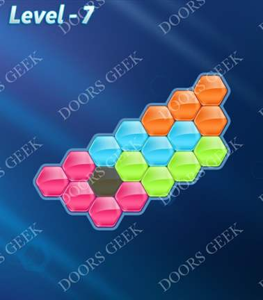 Block! Hexa Puzzle [Rainbow A] Level 7 Solution, Cheats, Walkthrough for android, iphone, ipad, ipod
