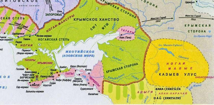 Карачай в исторических картах