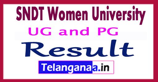 SNDT Women University Result 2018