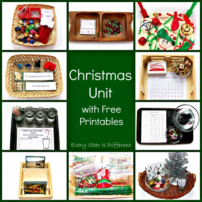 Christmas Unit with Free Printables