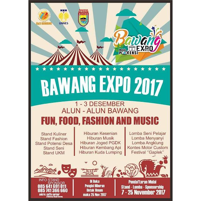 Event Bawang | 1-3 Desember 2017 | Bawang Expo 2017