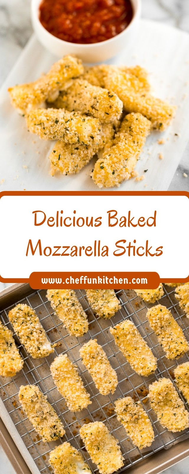 Delicious Baked Mozzarella Sticks