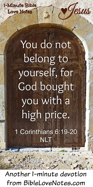 1 Corinthians 6:19-20, Jesus bought us at a price