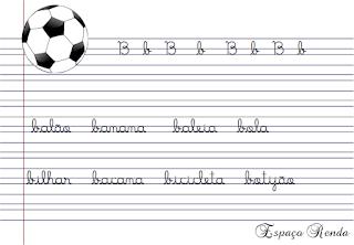 caderno de caligrafia letra B