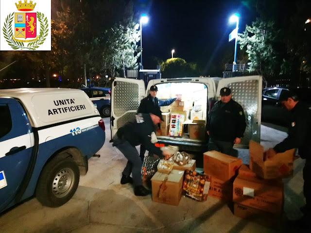 Si avvicina il Capodanno. Manfredonia, la Polizia intensifica i controlli e sequestra materiale.