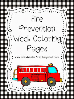 mrs wheelers first grade tidbits fire prevention week