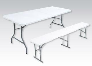 Meble składane ławka stół z Biedronki