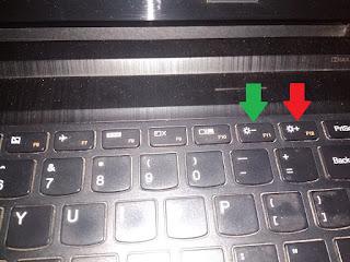 cara meredupkan layar komputer dengan keyboard