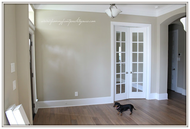 Farmhouse Foyer-New Build-Before-French Doors-From My Front Porch To Yours