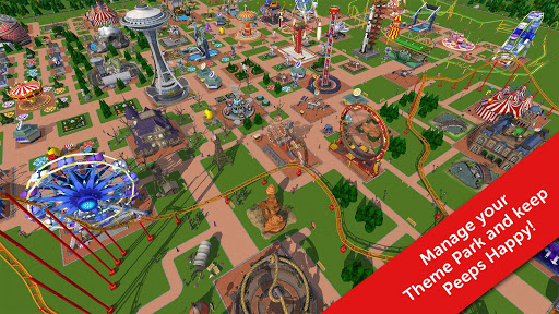 Free Download RollerCoaster Tycoon Touch v RollerCoaster Tycoon Touch v1.13.3 Mod Apk (Unlimited Money)